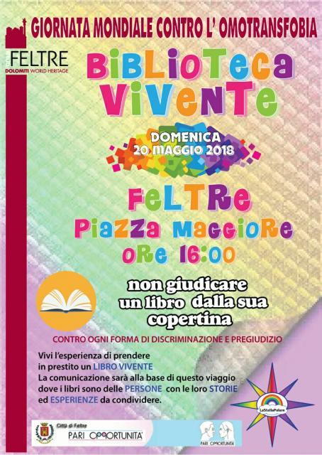 GIORNATA MONDIALE CONTRO L'OMOTRANSFOBIA - BIBLIOTECA VIVENTE