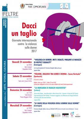 Dacci un taglio - Giornata internazionale contro la violenza sulle donne 2017